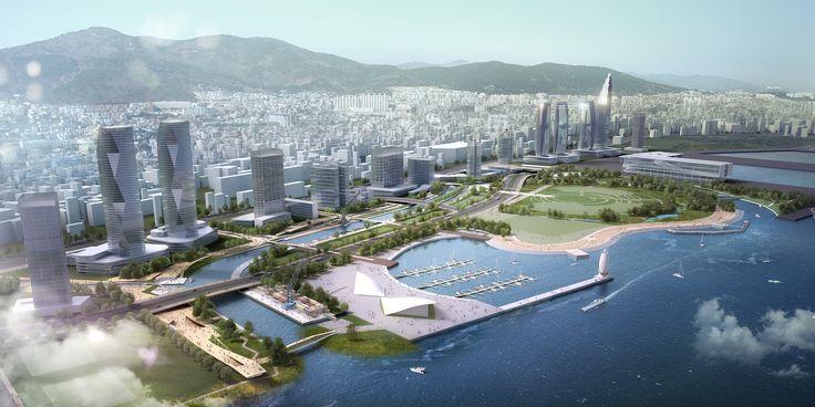 Galeria de Consórcio SYNWHA vence concurso para projetar o parque da orla de Busan North Port - 8