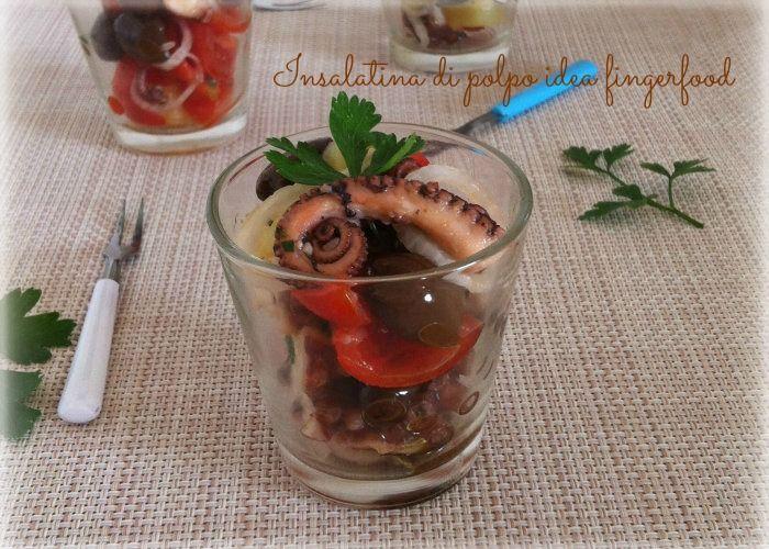 Insalatina di polpo idea fingerfood