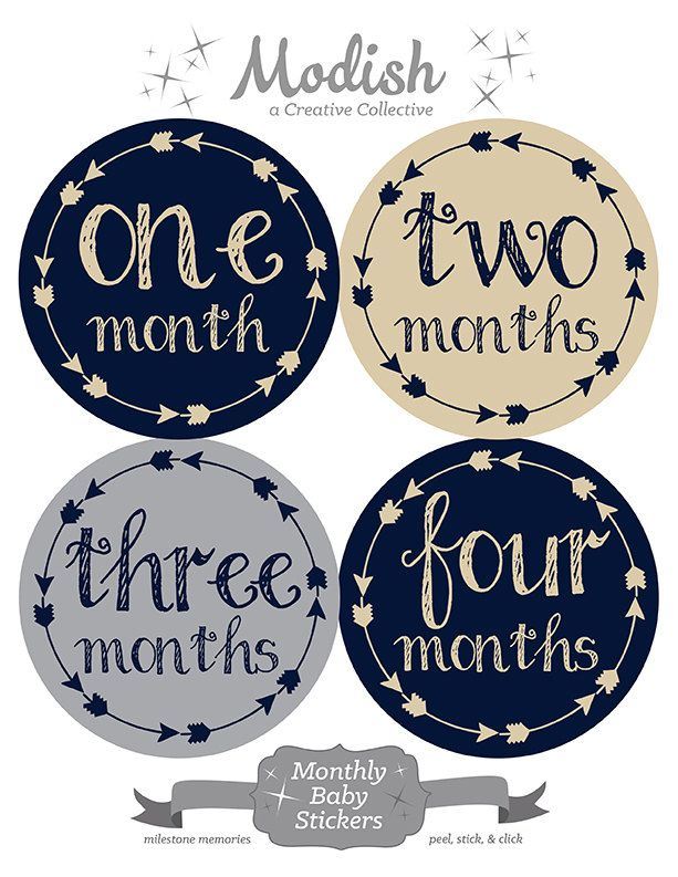 FREE GIFT, Tribal Arrow Month Stickers, Baby Month Stickers, Baby Boy, Navy, Taupe, Beige, Tan, Gray, Grey, Monthly Baby Stickers, Baby Gift