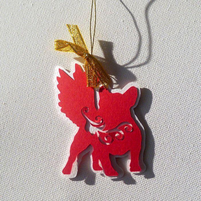 French Bulldog Christmas tree decoration  Melchior by PSIAKREW on Etsy
