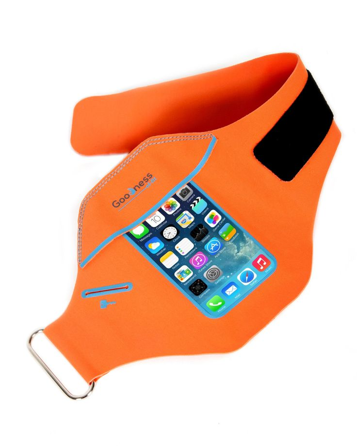 IPhone 6+ 6s PLUS Armband: Goodness-of-fit Sports Running and Exercise, Gym Sportband Iphone 6 Plus (5.5-inch) Water Resistant + Sweat Proof + Key Holder +Id + Credit Card +Money Holder. (Orange). ARMBAND FOR iPHONE 6 PLUS and 6S PLUS (5.5 - inch). Does not fit iPhone 6 and 6S (5 - inch). Can hold phone with thin cases without removing case. Comes in jet black and orange colors to choose from. COMES STANDARD WITH BONUS ACCESSORIES. Free Extender Heavy Weight Strap (one) increases arm band...