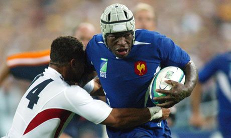 Serge Betsen against England in the 2003 World Cup semi-final in Sydney.