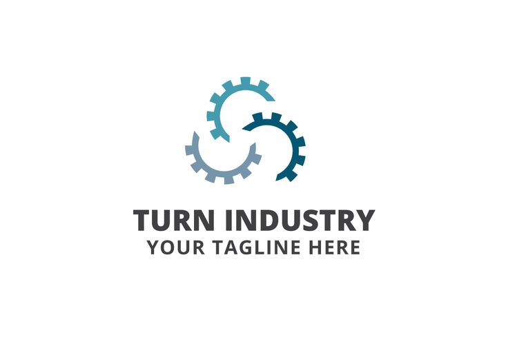 Turn Industry Logo Template by Logo20 on @creativemarket