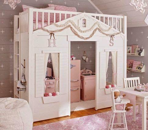 Łóżko na antresoli - inspiracje do pokoju dwulatki KONKURS