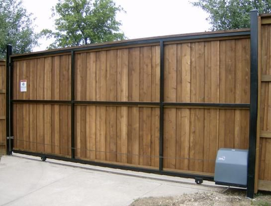 Sliding Automatic Driveway Gate Painted Gloss Black