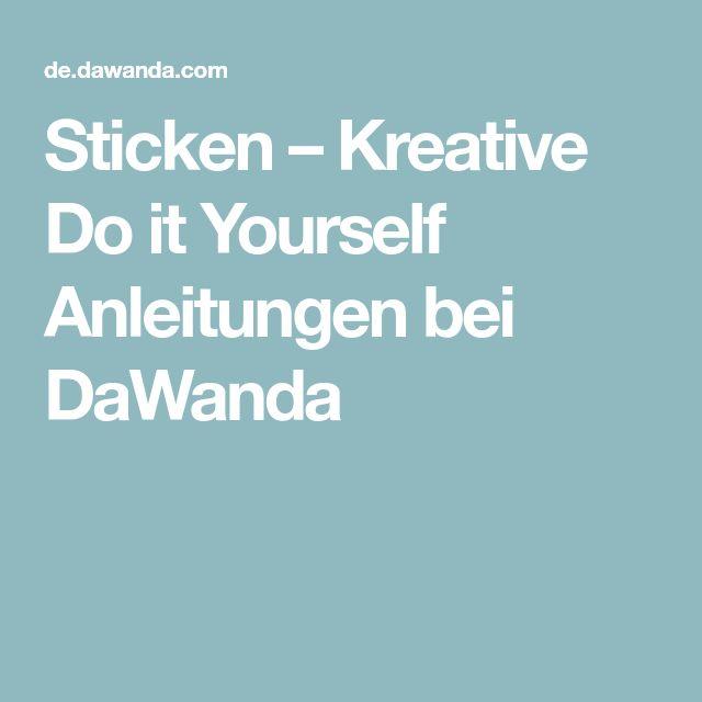 Sticken – Kreative Do it Yourself Anleitungen bei DaWanda