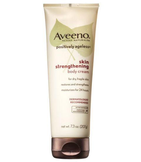 Best Anti Aging Products For Women -  Body Cream Southernwood plant extract is the hero ingredient in Aveeno Positively Ageless Skin Strengthening Body Cream ($10.99; Amazon.com)—it moisturizes and helps make skin more resilient.