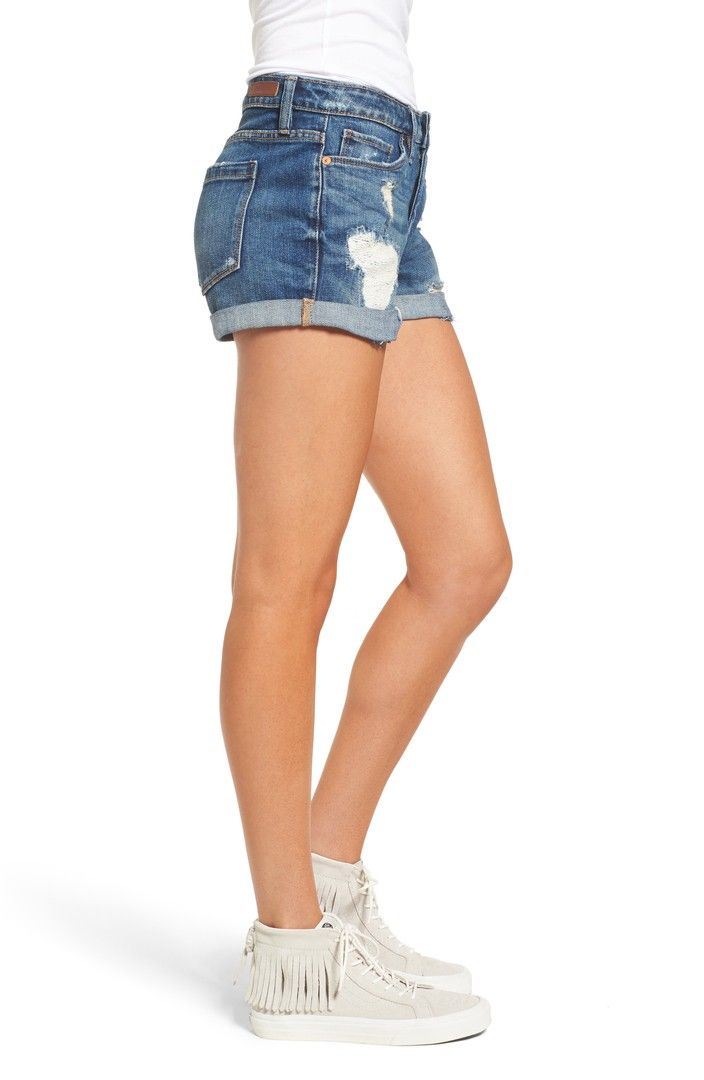 fa589a6294535 Main Image - BLANKNYC Boyfriend Denim Shorts (Dress Down Party ...