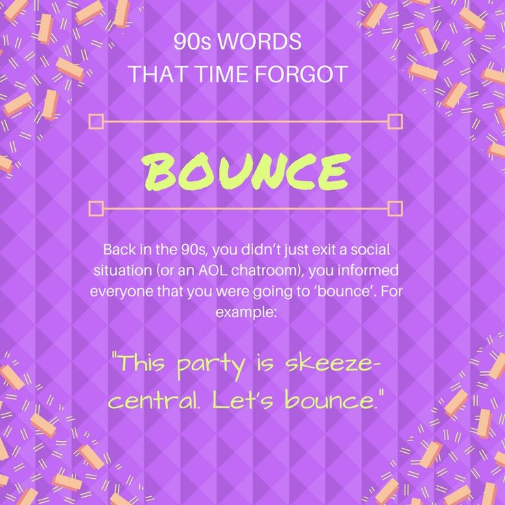 The 90s had some real slang-word gems. Here are some of the best 90s words that time forgot. #90s #90skids #90slove