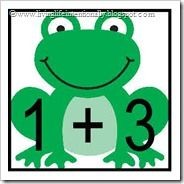 Hoppy Frog Math ~ FREE Printable