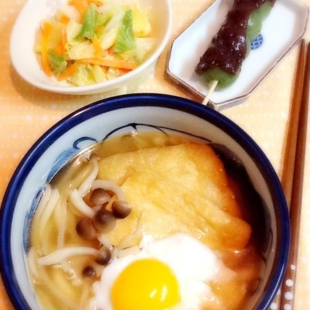 晩ご飯はうどん~♪キャベツの和え物&よもぎ団子~ - 47件のもぐもぐ - うどん~ by lilianhuang
