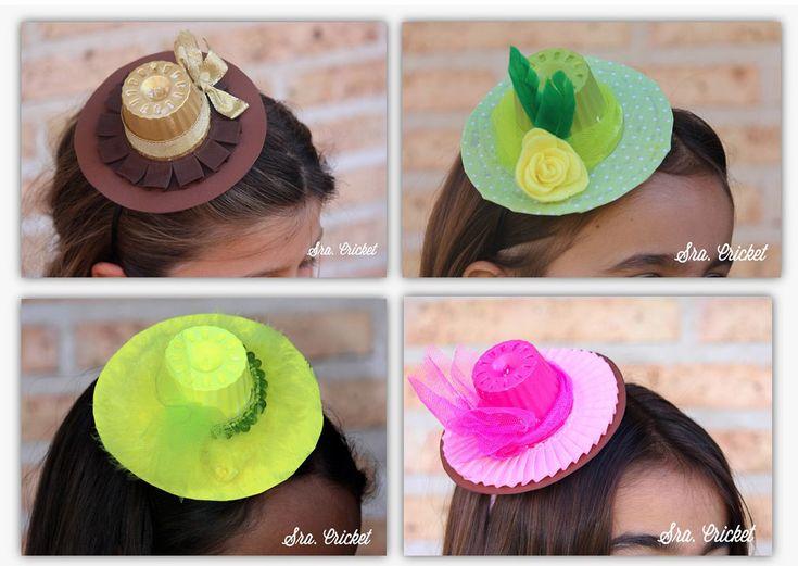 Sombrero de papel mini en diadema http://sracricket.com/sombrero-de-papel/