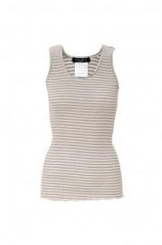 Grey Filamentary Silver Striped Vest  $32.99    romwe.com