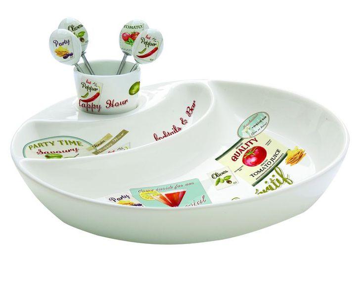 Zestaw do przekąsek z widelczykami z porcelany || #set for #snacks ; #party #decosalon #giftidea #nuova
