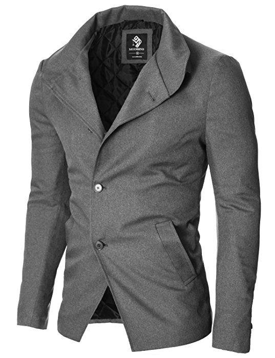 Shoppen Sie MODERNO - Slim Fit Freizeit Herren Sakko Casual Jacke (MOD14520B) Grau EU M auf Amazon.de:Sakkos