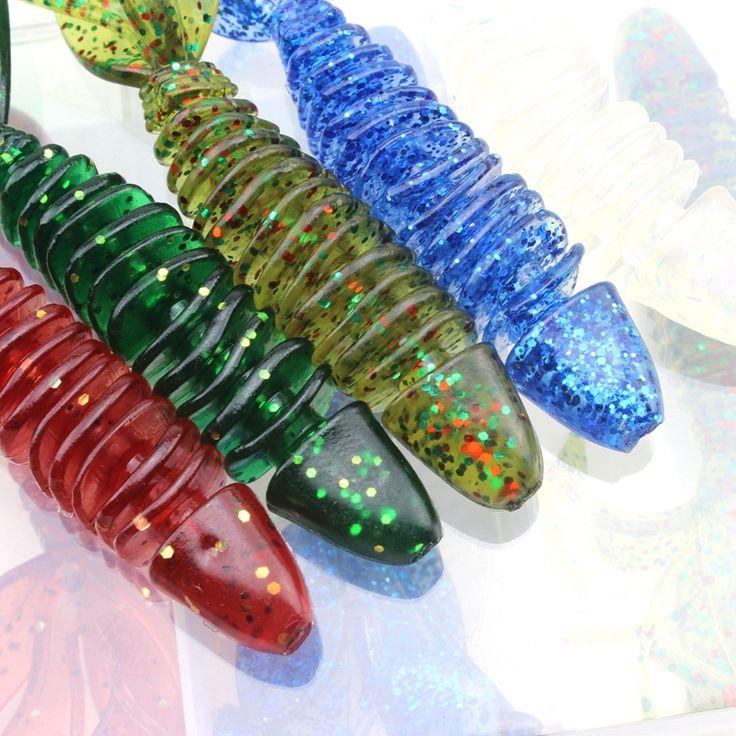 10 pcs 10cm 8g soft bait sea fishing tackle wobbler jigging fishing lure silicone bait soft worm shrimp Set and Tackle Box #Affiliate