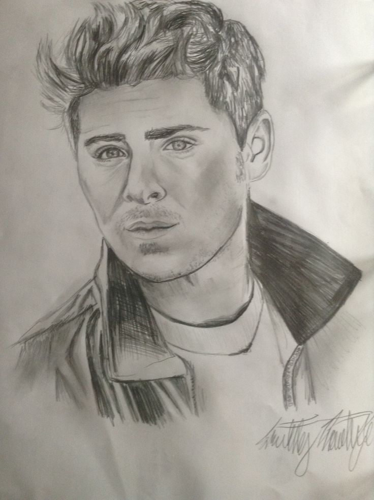 zac efron drawing drawings pencil inspiration easy sketches