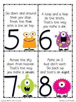 MONSTER MATH NUMBER FORMATION POEMS AND ACTIVITIES - TeachersPayTeachers.com