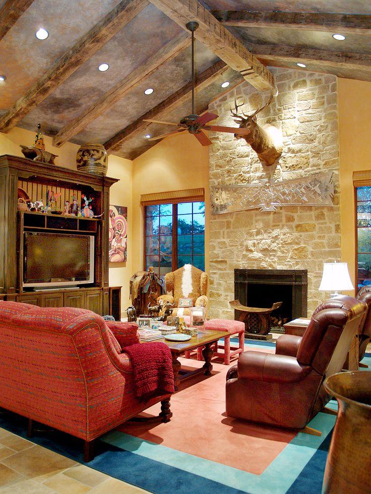 115 best living room glamour images on pinterest austin for Texas themed living room