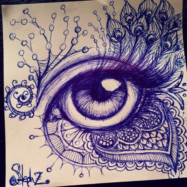 ballpoint pen doodles google search zentangled