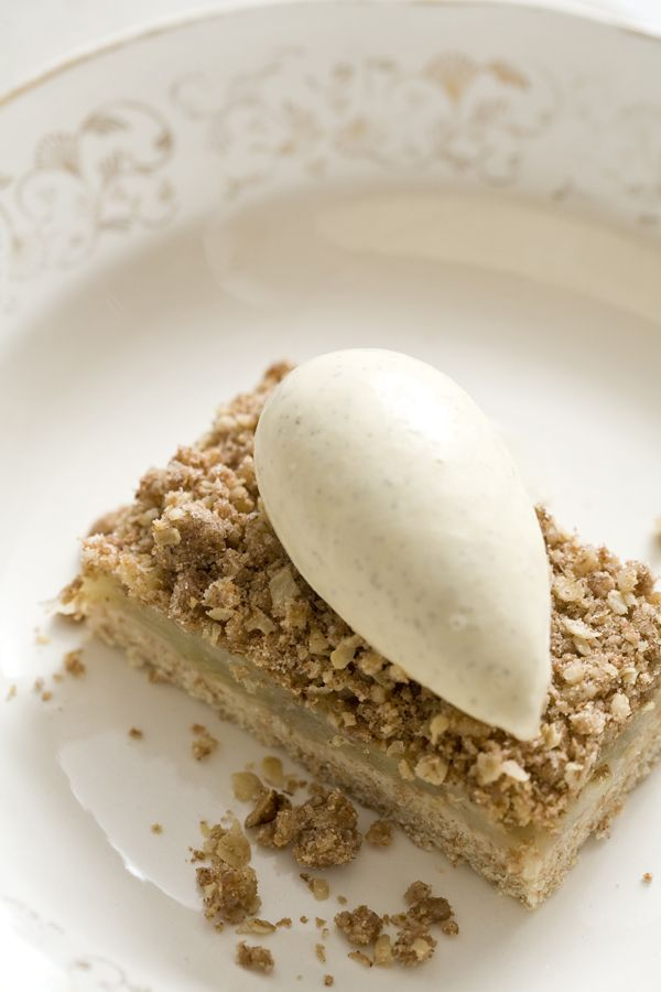 Spiced apple crumble slice - Marcus Wareing. Features the beautiful ...