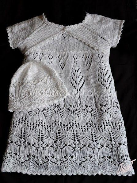 Ажурный белый сарафанчик | Вязание для девочек | Вязание спицами и крючком. Схемы вязания.