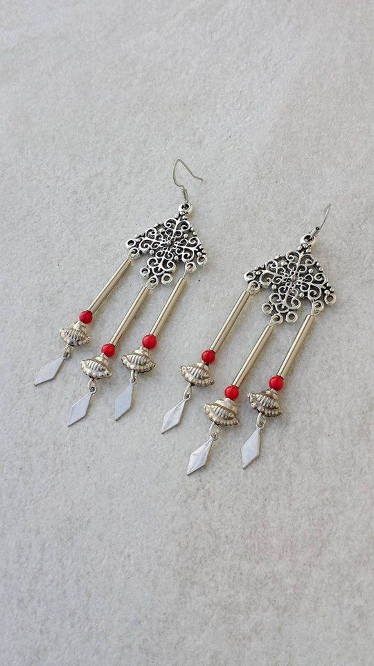 Aztec Coral Earings, Boho Chic Earings, Chandelier Earrings, Christmas Gift For the Gypsy Lover by Lycidasjewelry on Etsy