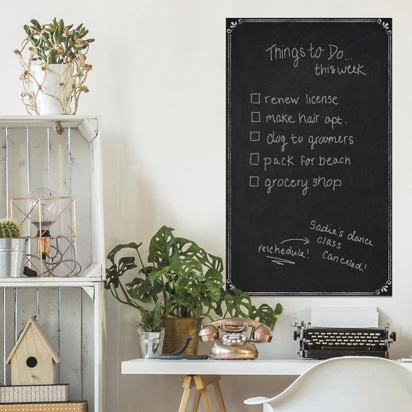 Roommates Chalkboard Peel Stick Wallpaper Black Peel And Stick Wallpaper Room Visualizer Chalkboard