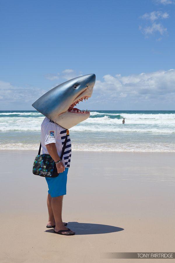 Shark dude at the Gold Coast Shark Cull Rally #nosharkcull #noWAsharkcull