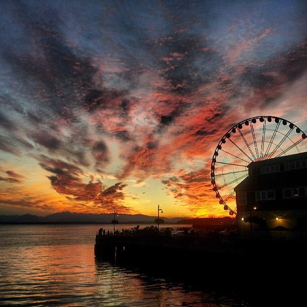 sunset on the seattle - photo #23