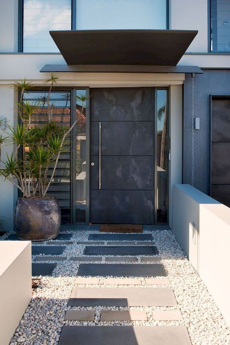 60 Simple And Cheap Modern Landscape Design For Garden Ideas 2019 Gorgeous 60 Simple And Cheap Modern Land Entrance Design Modern Entrance Modern Landscaping