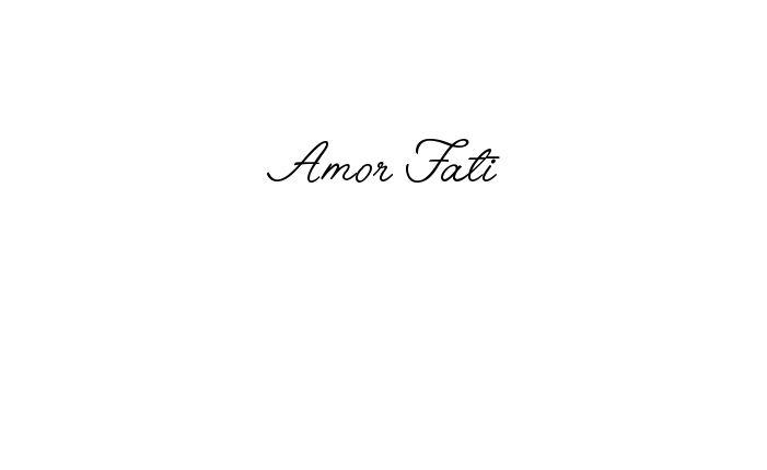 Tattoo Name Amor Fati using the font style Angelface Regular