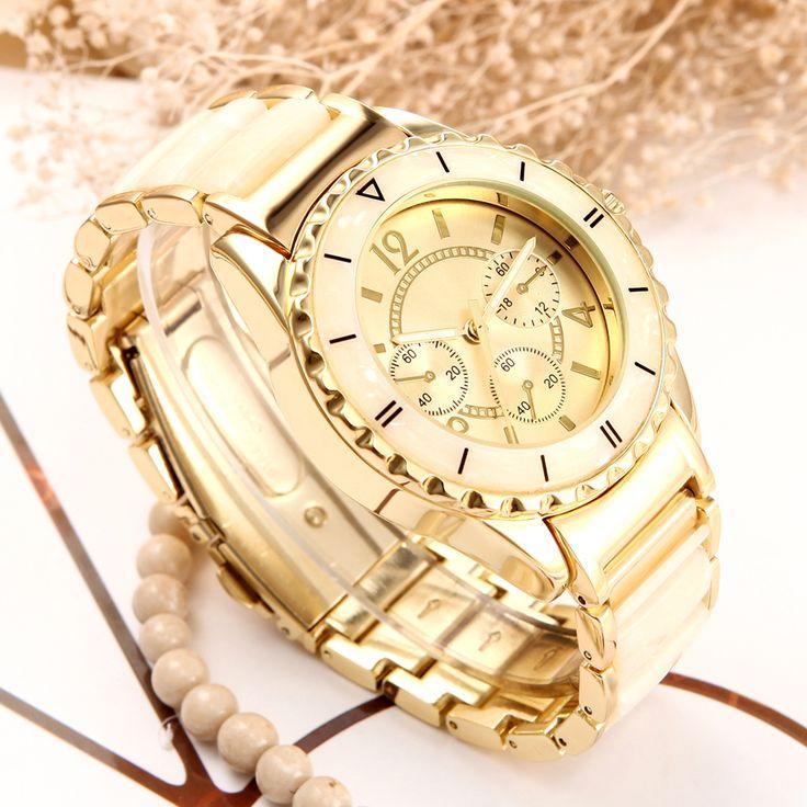 women quartz watch new design brand bracelet style watch clock 2016 luxury gold Ceramics Ladies wrist Watch for women fashion //Price: $28.95 & FREE Shipping //     #hashtag4