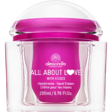 All About Love Handcreme 200ml With Kisses! Tiegel Pink