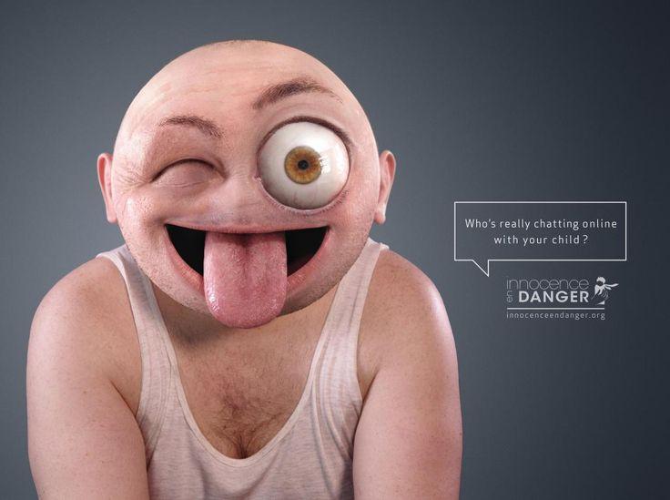 "Internet safety for children: ""Emoticon- WINK"" Print Ad  by Rosapark, Paris"