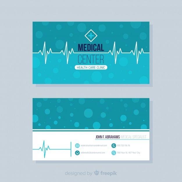 Concepto elegante de tarjeta de visita para médico o