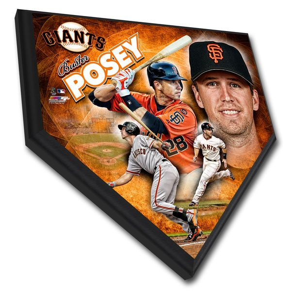 """Buster Posey San Francisco Giants 11.5"""" x 11.5"""" Home Plate Player Plaque"""