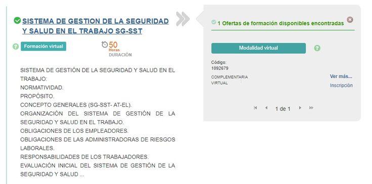 CURSO VIRTUAL 50 HORAS DEL SG-SST — CON EL SENA – SGSST