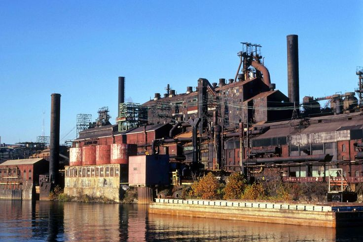 A Pittsburgh steel mill.