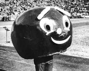 Brutus Buckeye, Ohio State mascot, in the 1960s.
