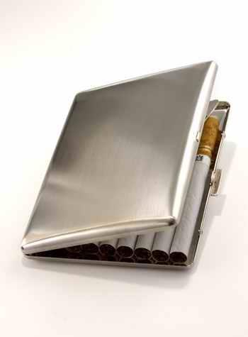 Nat Sherman cigarette case. Made In Japan - Even better.