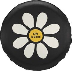 Life is Good Tire Cover Daisy