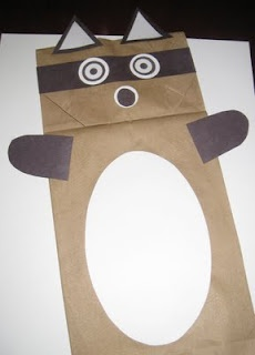 Kissing Hand Paper Bag Puppet--great book!