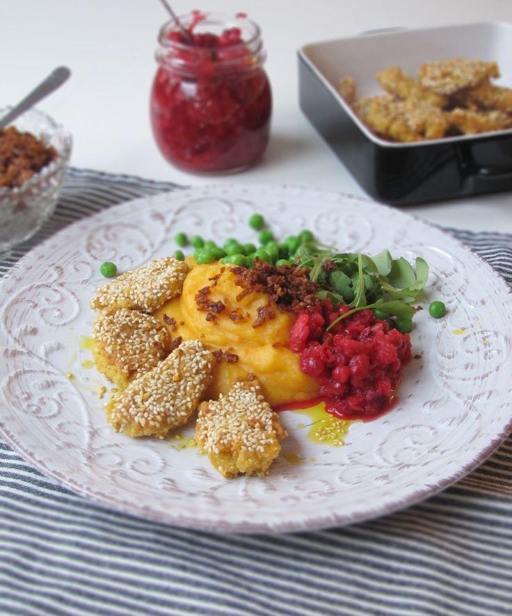 Green power by Anna: Hemlagade veganska nuggets med rotmos // Breaded vegan and gluten-free nuggets & mashed root vegetables