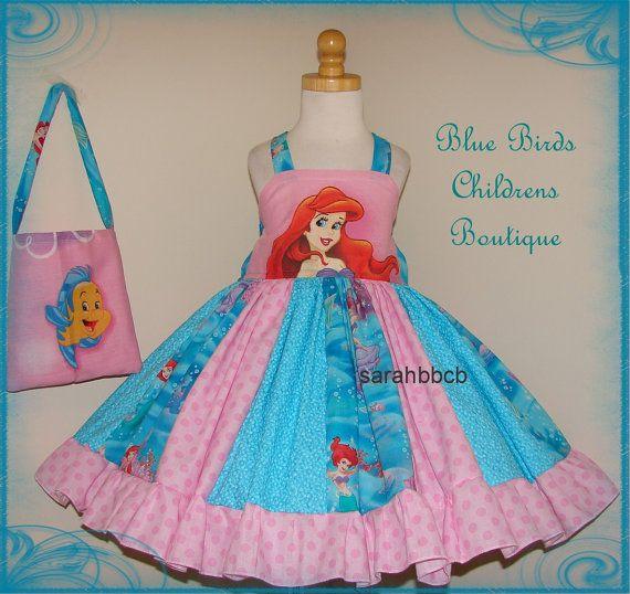 Disney Princess Little Mermaid Ariel Dress  Purse  by sarahBBCB, $44.50