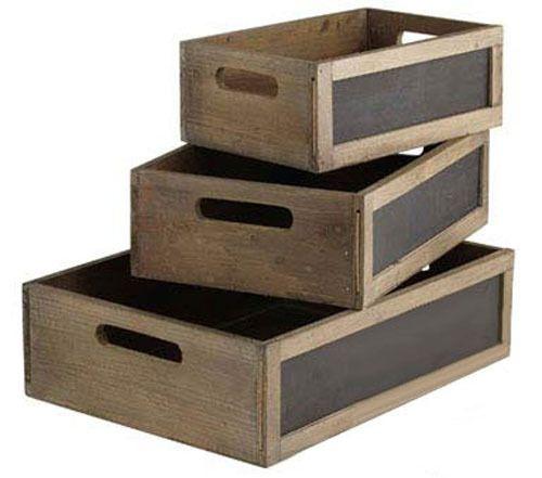 Blackboard wooden Crates 28cm long