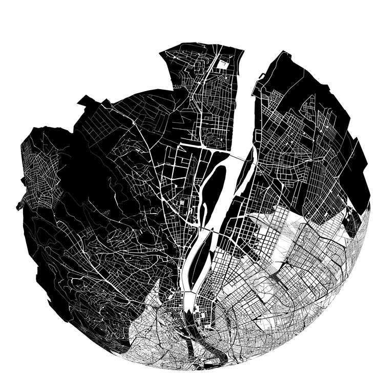 SUBMAP, SUBMAP 1.0: distorted maps of budapest w/ artists' homes as the center. see project page for videos/bonkersness. hello @Sha Hwang & @Evan Sharp #submap #map