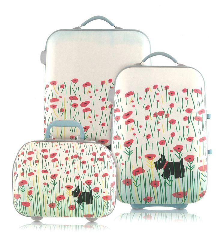 Radley Poppyfield luggage - Radley vanity case, Radley medium case and large suitcase