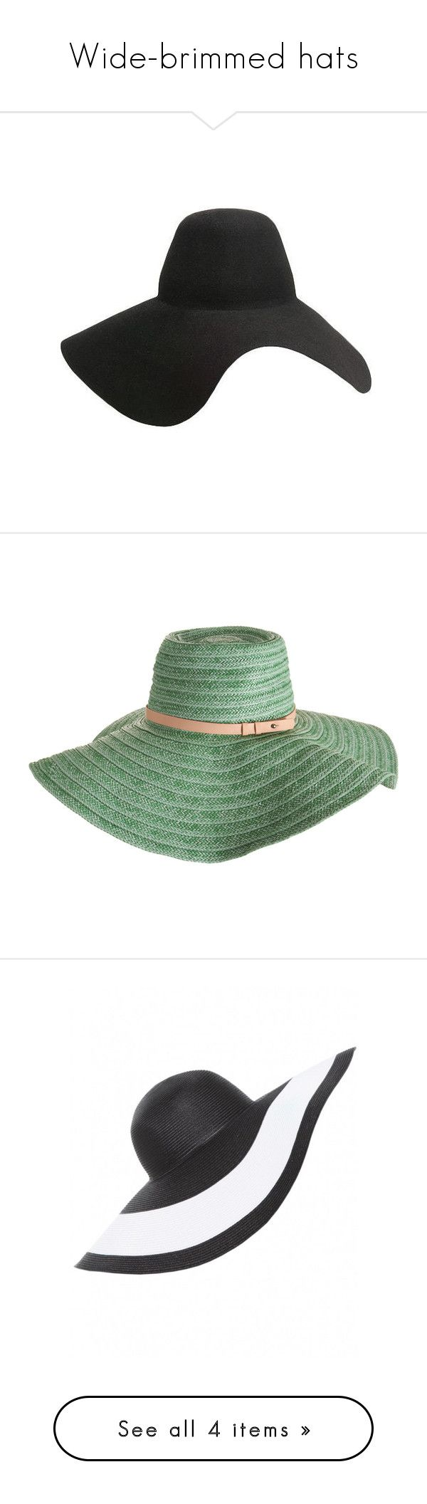"""""""Wide-brimmed hats"""" by intelligence ❤ liked on Polyvore featuring accessories, hats, black, headwear, lanvin, floppy brim hat, wide hat, wide brim floppy hat, wide brim hat and cappelli"""