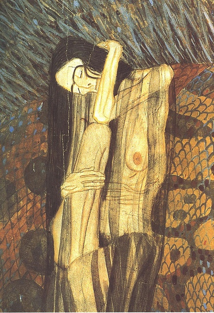 Gustav Klimt Gaunt Woman- Art collection   #gustave #Klimt #paint #GustaveKlimt #famous #painter #artlove #art